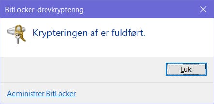 - Beskyt Windows og harddisk med Bitlocker AES-256